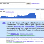 Timeline View in Google Labs