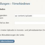 Bilderupload-Pfad in WordPress einstellen