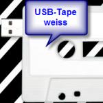 USB-Tape von Amixa im weissen Design