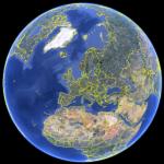 Erdglobus in Google Earth
