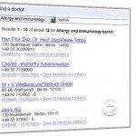 Finden einer Arxtpraxis mit Google Health