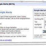 Google-Tools zum Benachrichtigen ueber das Webgeschehen