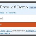 Dashboard-Ansicht in WordPress 2.6