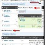 Pluginsverwaltung in WordPress 2.6