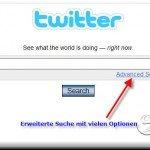 Suchmaschine bei Twitter
