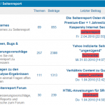 Forum von Seitenreport-de