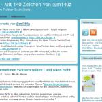 Twitterblog Mit140Zeichen-de