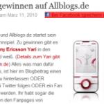 Allblogs-de Gewinnspiel