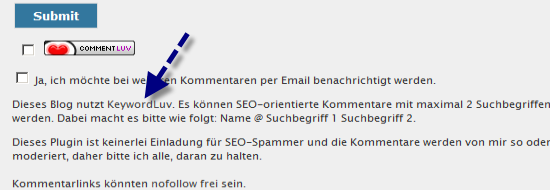 Post image of KeywordLuv für SEO-Kommentare im Blog