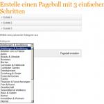 Erstellen von Pageballs