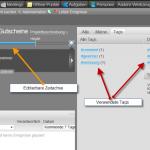 Zeitachse und Tagging in Projectplace