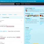 Twitter-Startseite 2010