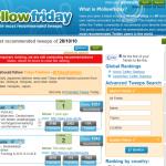 Startseite von FollowFriday-com