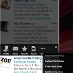Blu-App zum Twittern
