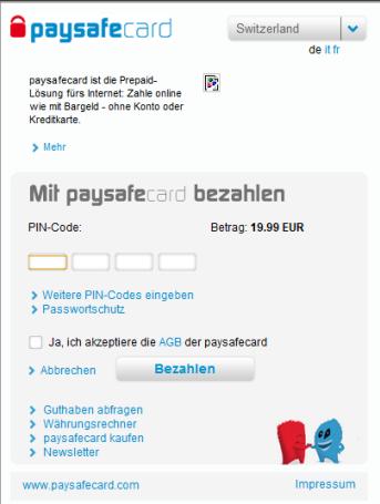 Bezahlen Mit Paysafecard