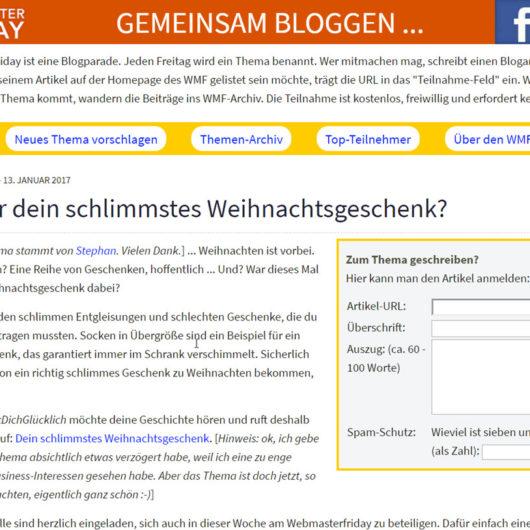 Gastartikel - sinnvoll oder nützt nichts - WebmasterFriday!!