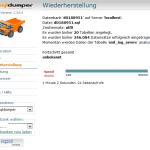 MySQLDumper Backup-Wiederherstellung