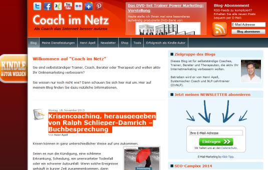 Coach-im-netz.de in der Vorstellung