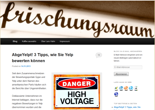 Blog Systematischkaffeetrinken.de