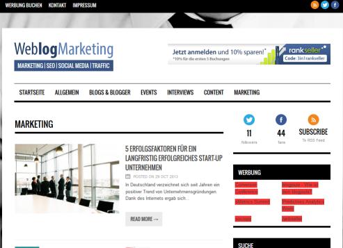 Weblogmarketing.de in der Vorstellung