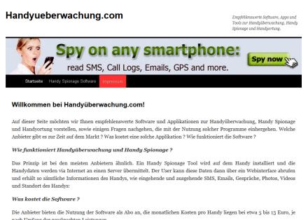 Handyüberwachung und Handyspionage