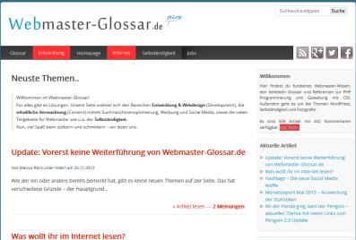 Webmaster-glossar-de in der Vorstellung