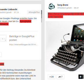 GooglePlus-Postings Links noFollow