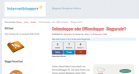 Internetblogger-de Onlineshopping-Blogparade
