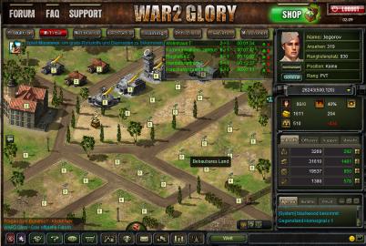 Ich spiele wieder War2Glory – ein StrategieBrowser-Game!