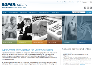Onlinemarketing mit SuperComm
