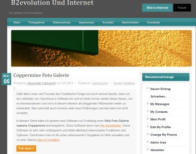 Alexliebrecht.com Blog auf b2Evolution