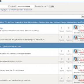 KUnena Forum in Joomla
