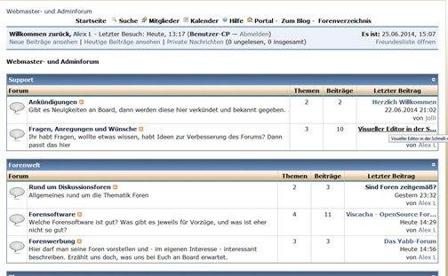 Neues Webmaster-Forum bei Hans entstanden und sucht nach Usern!