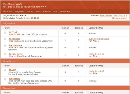 FluxBB-Forum auf Alexanderliebrecht.info/forum
