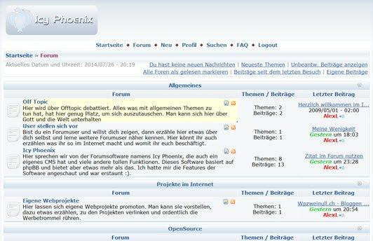 Icy Phoenix Forum und Portal
