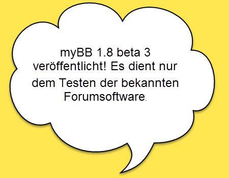 myBB 1.8 beta 3
