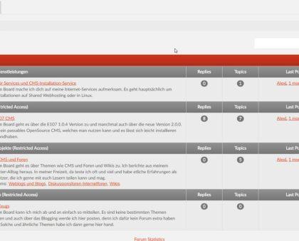 Welches CMS hat auch ein eigenes Forum
