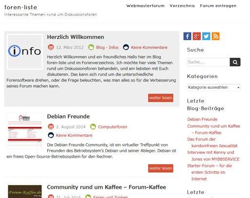 Blog Foren-liste.de
