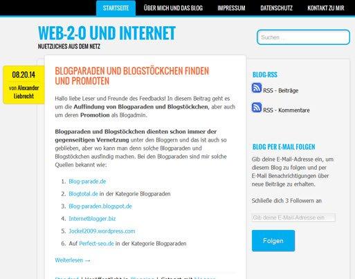 Meine Blogger-Aktivitäten auf Blogger.com und WordPress.com