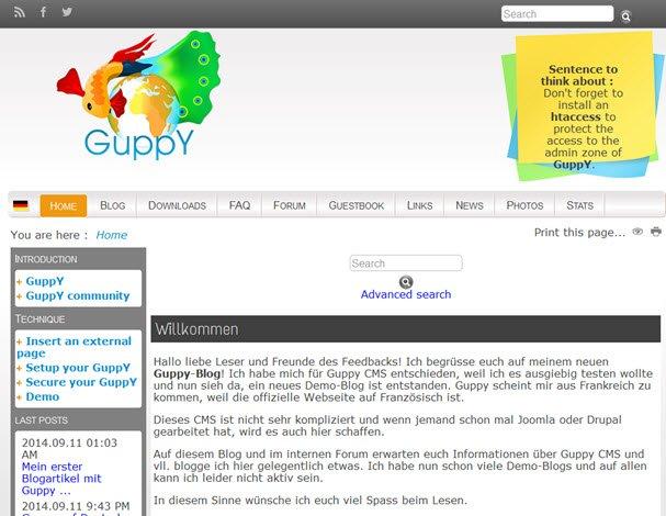 Vorstellung des OpenSource CMS namens Guppy