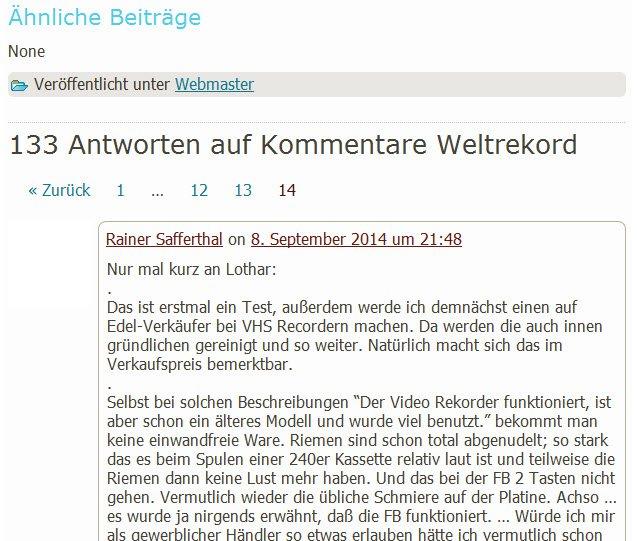 Kommentare-Wltrekord auf AV100.de