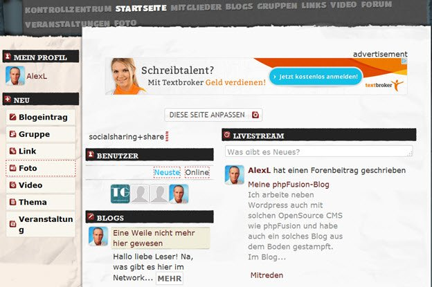 Social Network Software Oxwall mit neuer Version 1.7.1