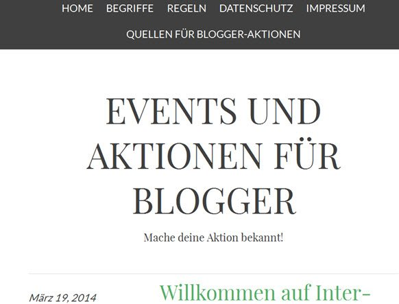 Internetblogger.biz  – mache deine Blogger-Aktion bekannt!