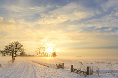 Winter Wetter und die Landschaft