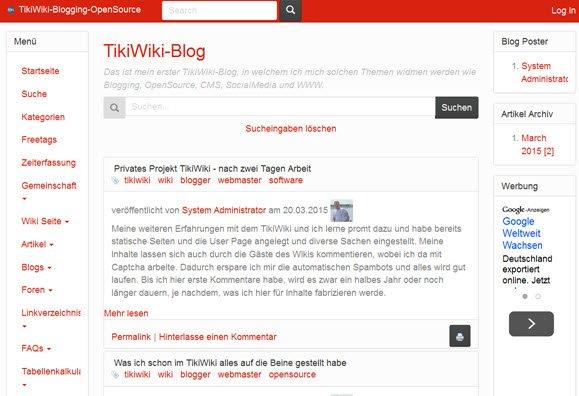 tikiwiki-frontend