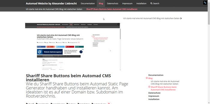 automad-cms-frontend-static-page-generator