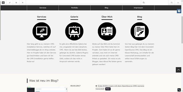 concrete5-cms-blog-projekt-im-frontend