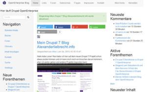 drupal7-openenterprise-blog-frontend