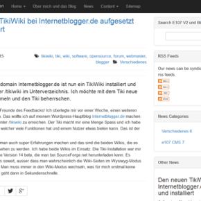 e107v2-blog-news-frontend
