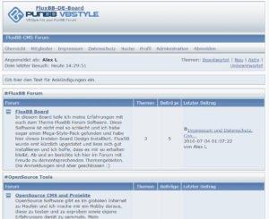 fluxbb-forum-startseite